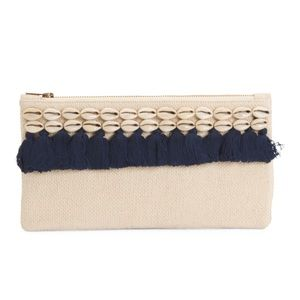 Shiraleah Silva Zip Clutch with shell accents